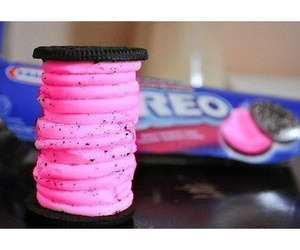 oreo, food, and pink image