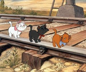 cats, love, and disney image
