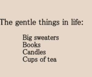 book, tea, and sweater image