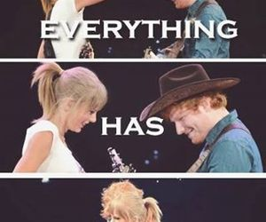 Taylor Swift, ed sheeran, and friends image