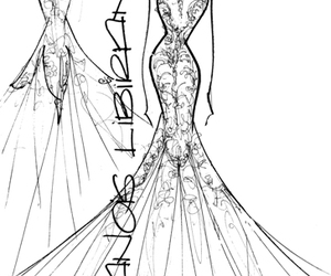 gown, sketch, and megan young image