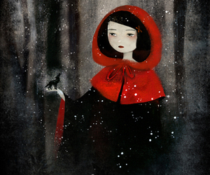 little red riding hood, wolf, and art image