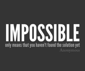 quotes, impossible, and solution image