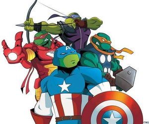 Avengers, hawkeye, and tmnt image