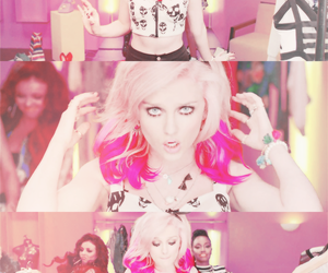 perrie edwards, little mix, and pink hair image