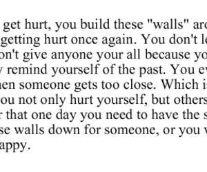 sad, quote, and walls image