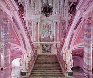 pink, architecture, and castle image
