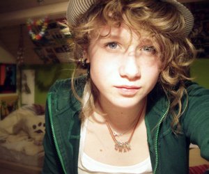 blond hair, curls, and girl image