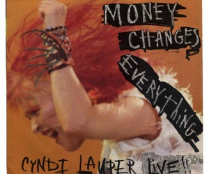 album, Cyndi Lauper, and live image