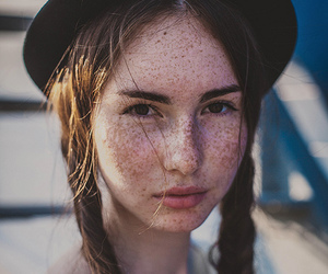 freckles, girl, and braid image
