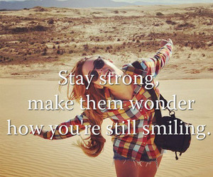 smile, quotes, and strong image