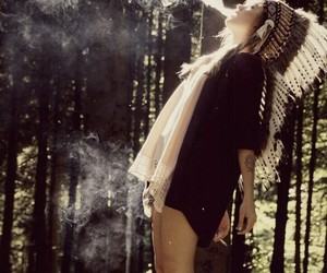 cool, smoke, and forest image