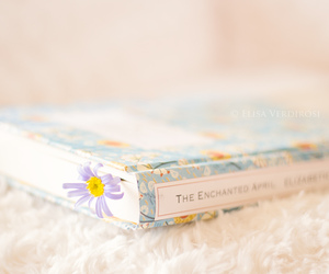 book, pastel, and floral image