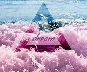 Dream, ocean, and pink image