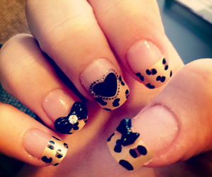 nails, bow, and heart image
