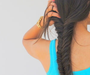 accessories, brunette, and hair image
