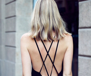 black, dress, and maxidress image