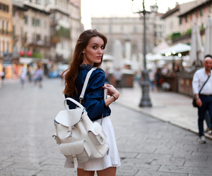 bagpack, fashion, and girl image
