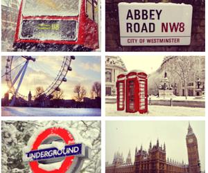 london, england, and snow image