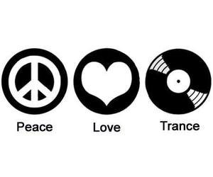 peace, trance, and love image