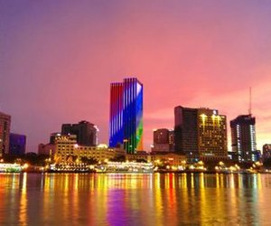 at night, colourful, and ho chi minh city image