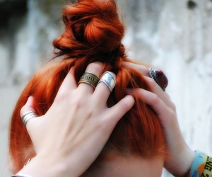 bohemian, ginger, and red hair image