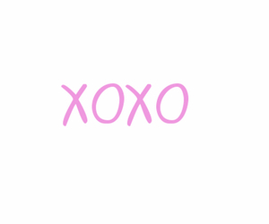 xoxo, pink, and love image