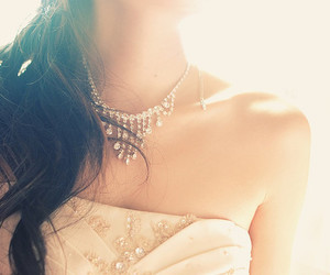 necklace, dress, and hair image