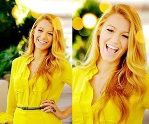 blake lively, gossip girl, and yellow image