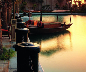 boat, sunset, and romantic image