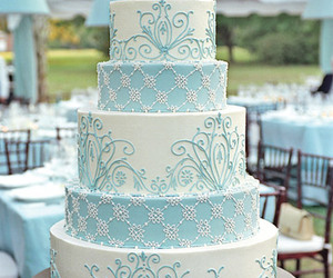 cake, wedding, and blue image