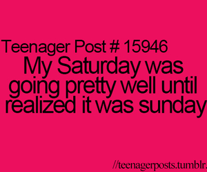 Sunday, teenager post, and funny image