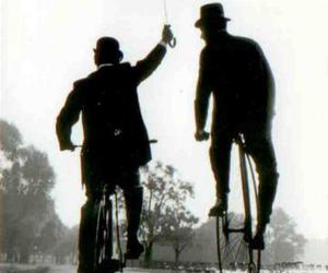 bicycle, man, and men image