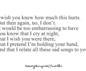 hurt, i wish..., and quotes image