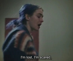 lost, scared, and quotes image