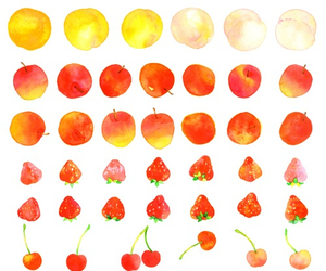 fruit, cherry, and strawberry image