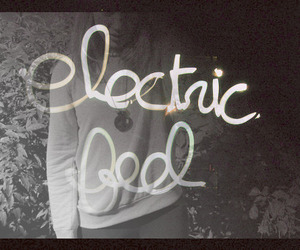 black and white, cool, and electric feel image