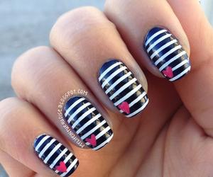 nails, nail art, and heart image