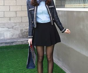 fashion, kpop, and schoolgirl chic image