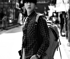 asian, ulzzang, and black and white image