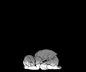 alone, art, and black & white image