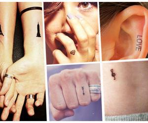 tattoo, little tatto, and tatuaje pequeño image