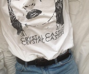 Crystal Castles, grunge, and jeans image