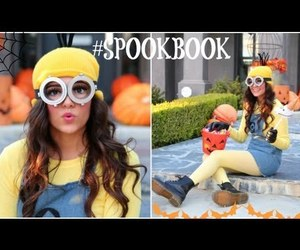 girl, minions, and style image