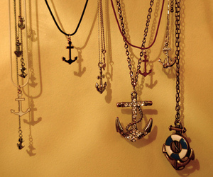anchor, necklace, and jewelry image