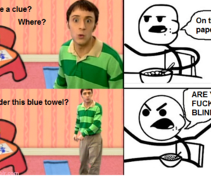 funny, lol, and blues clues image