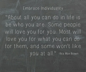 individuality, quote, and unique image