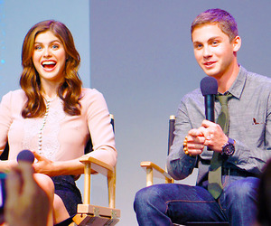logan lerman, percy jackson, and annabeth chase image