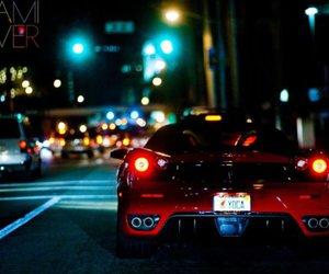 car, ferrari, and night image