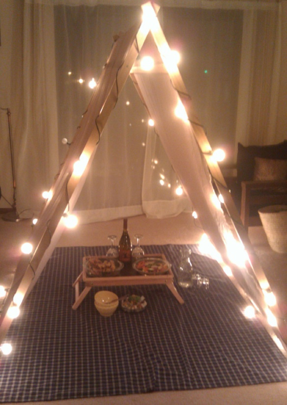 the little things in life diy tent for a romantic dinner in